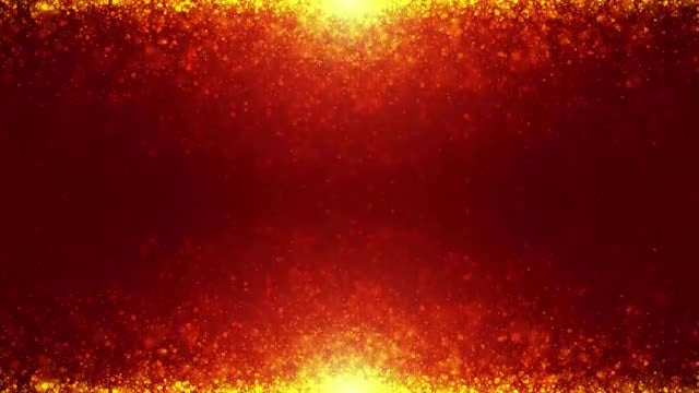 4K Mirror Golden Particles: Stock Motion Graphics