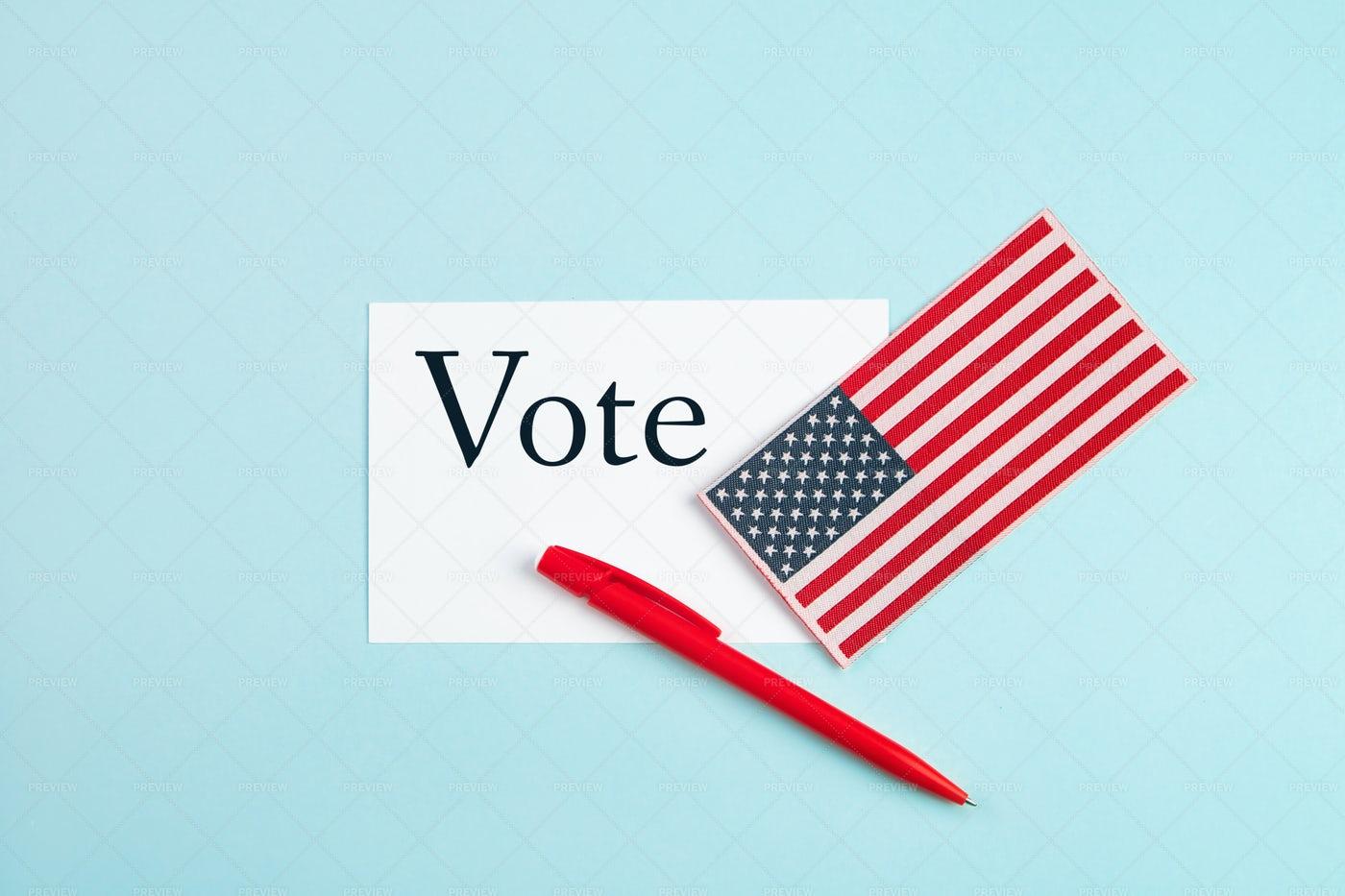 Us Vote Concept: Stock Photos