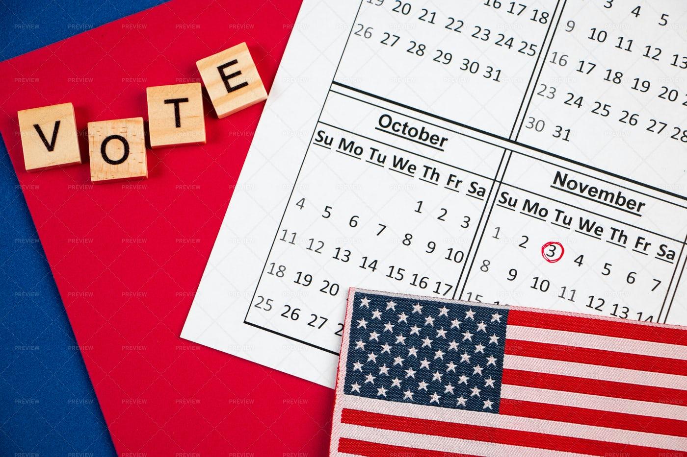 Election Day In USA: Stock Photos