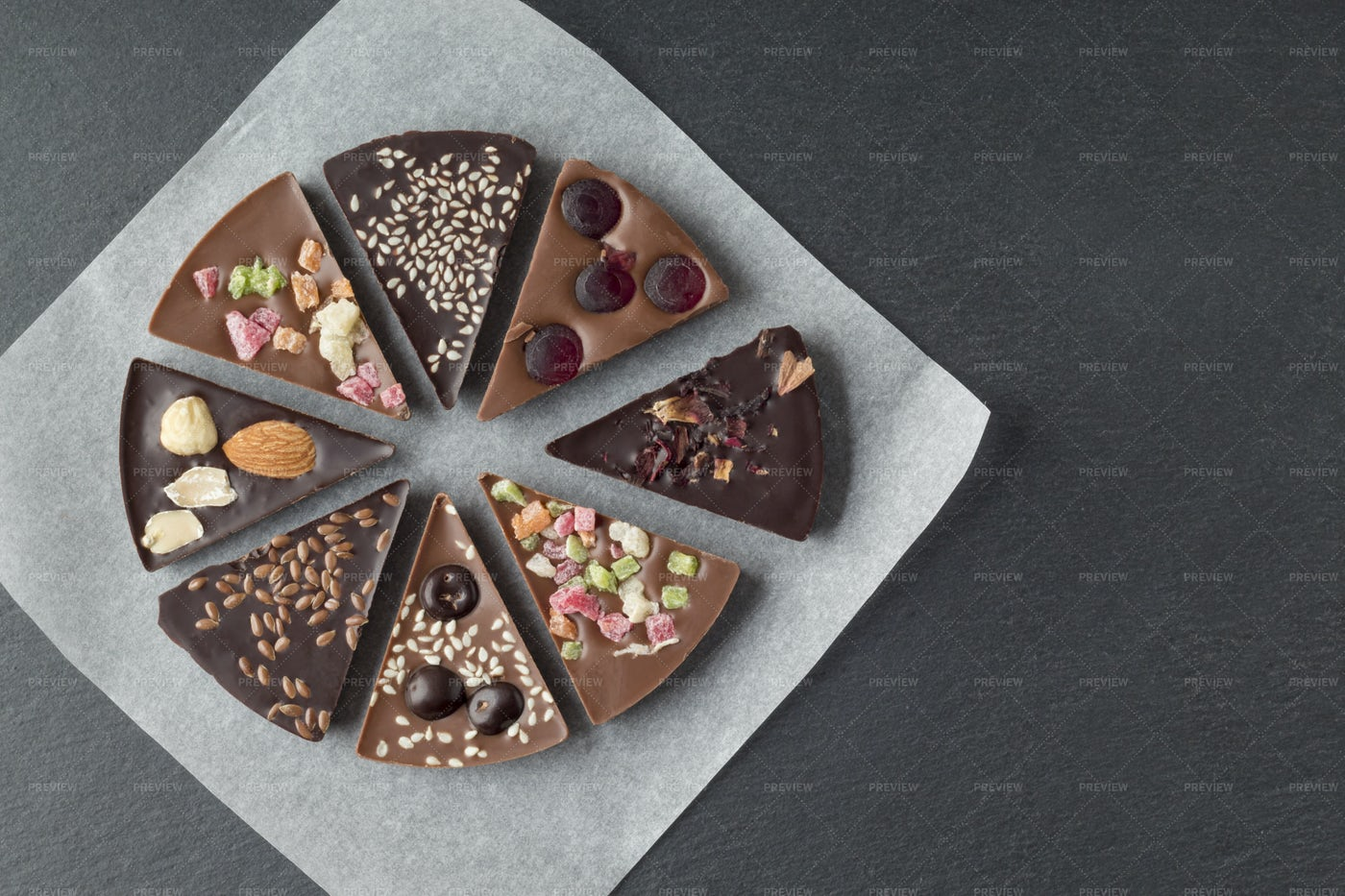 A Chocolate Pie: Stock Photos