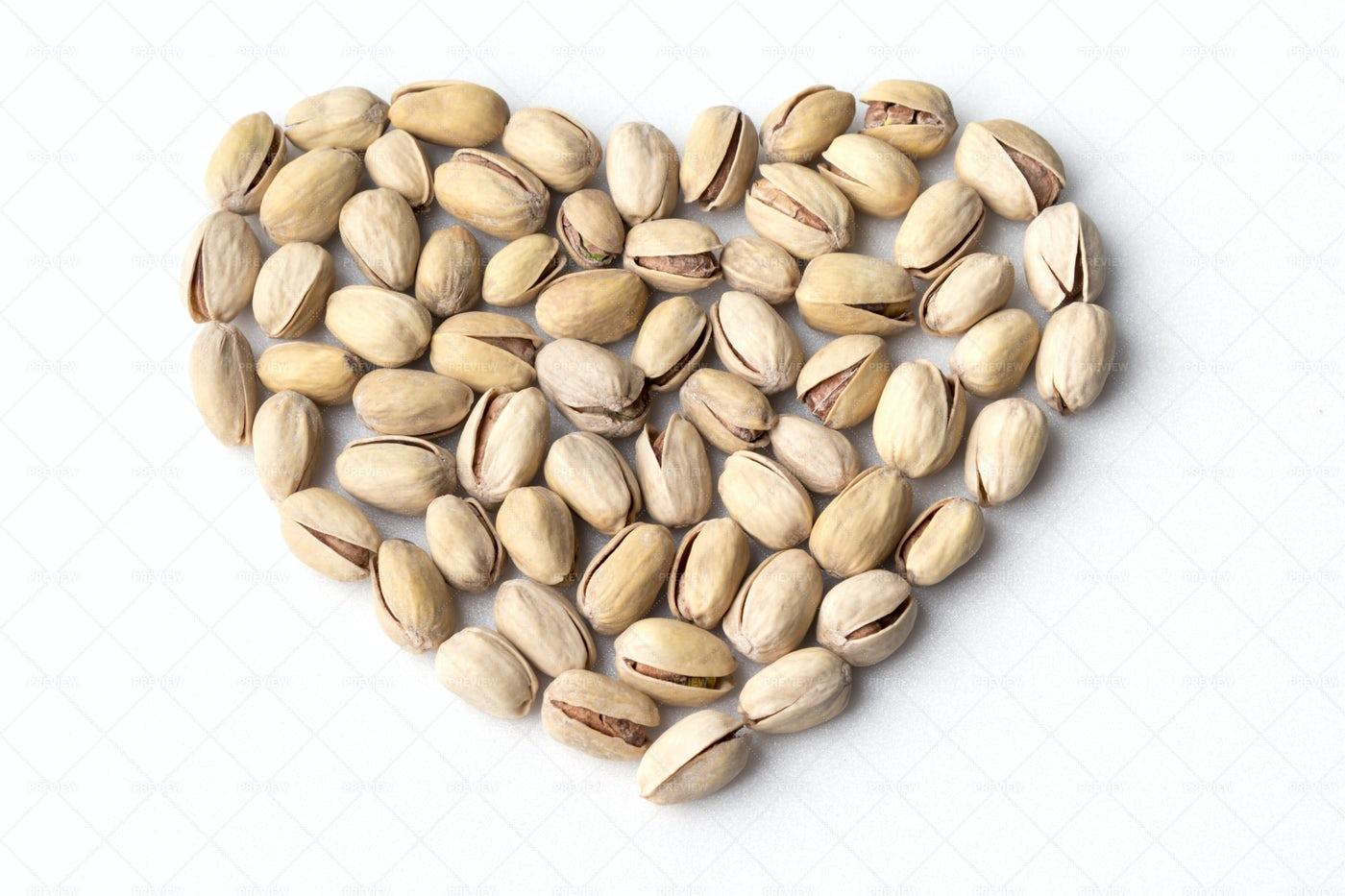 Heart Shaped Pistachios: Stock Photos