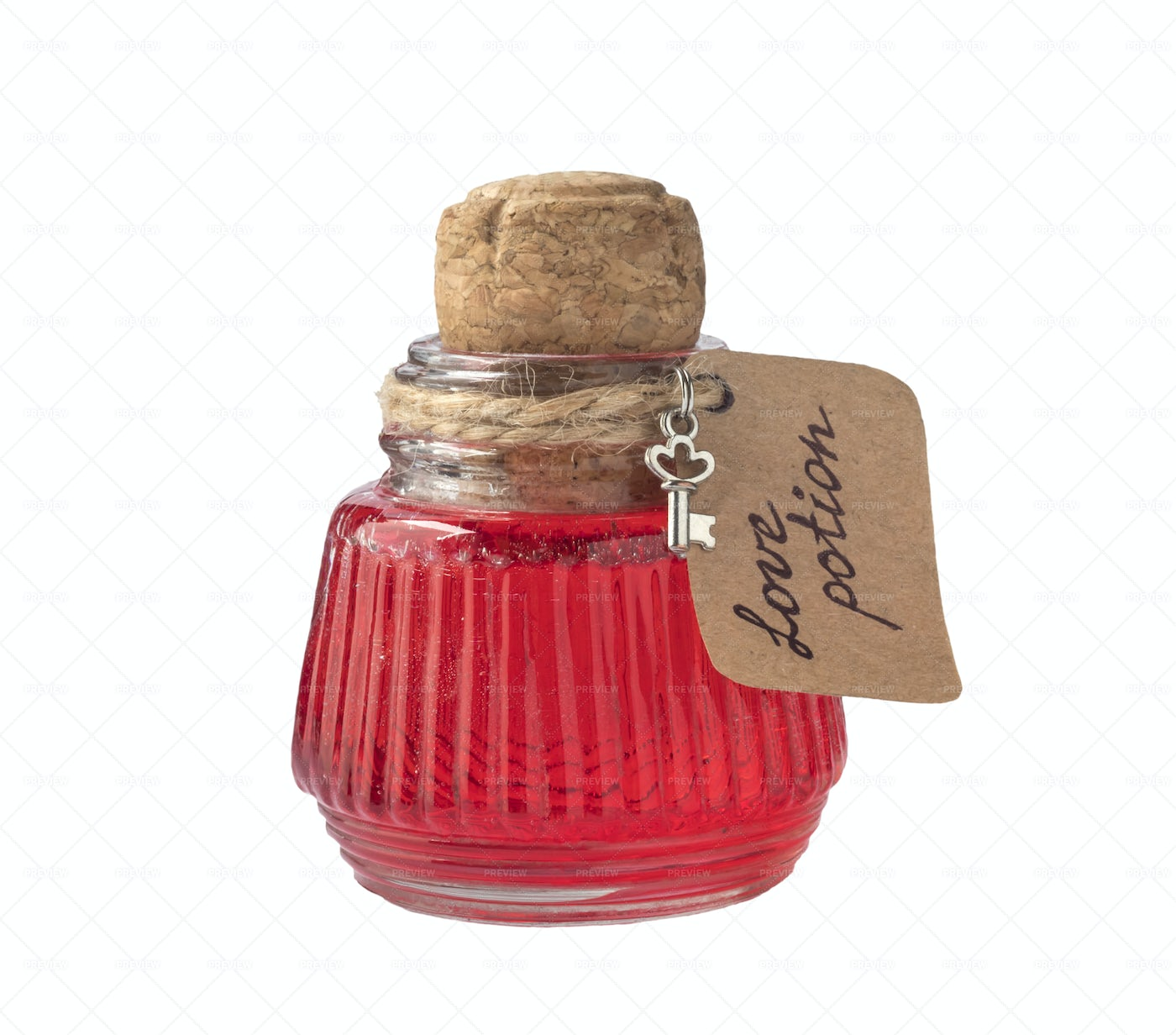 Love Potion In Flask: Stock Photos