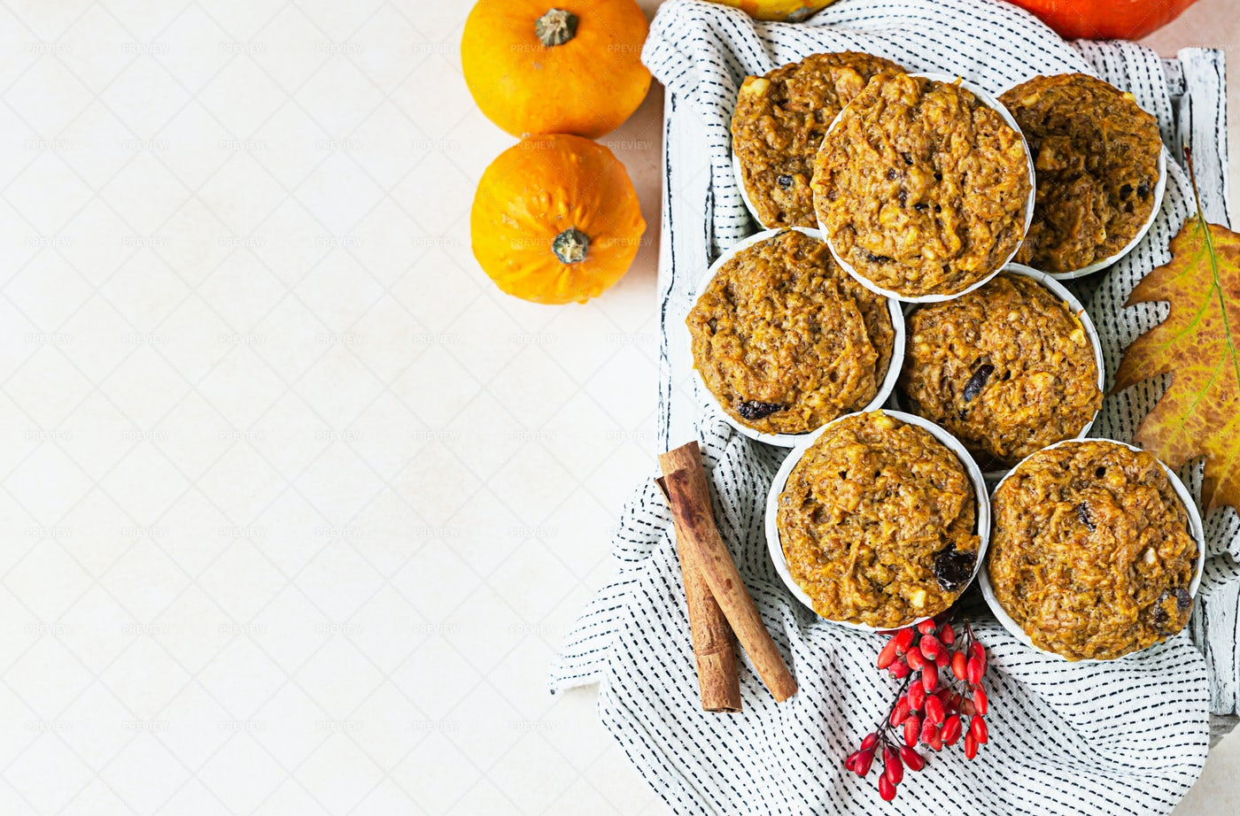 Wooden Tray With Muffins: Stock Photos