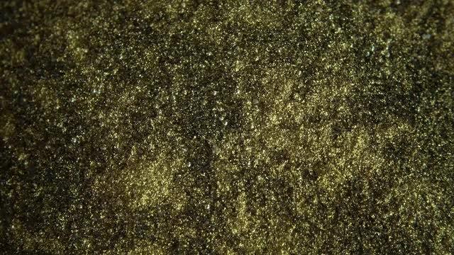 Golden Metal Shavings: Stock Video