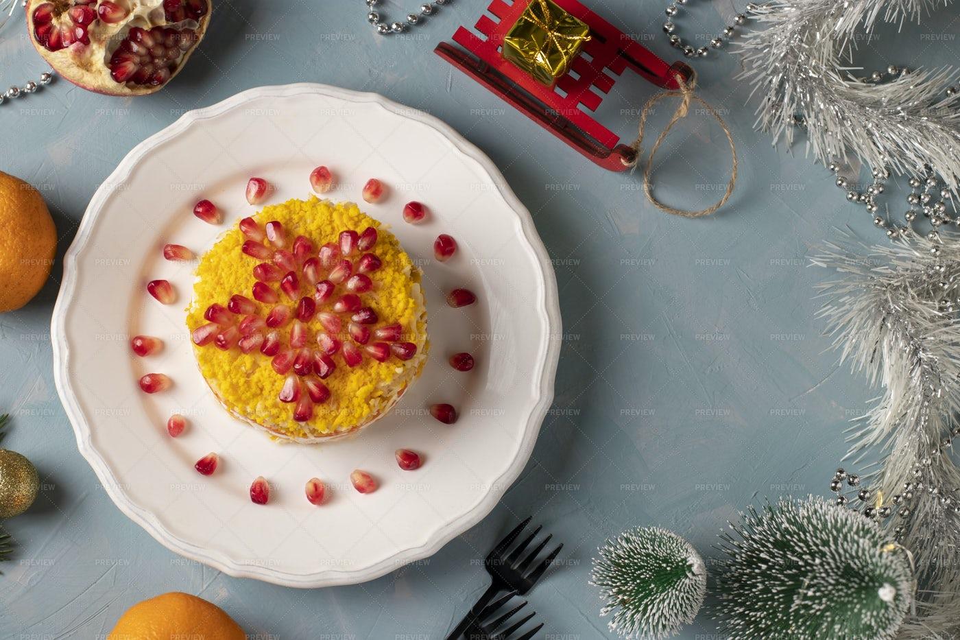 Festive Creative Salad: Stock Photos