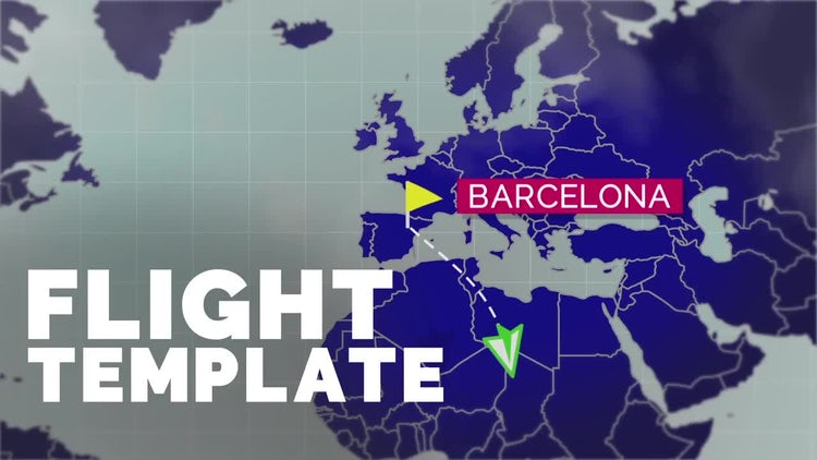 Flight Map Template: After Effects Templates