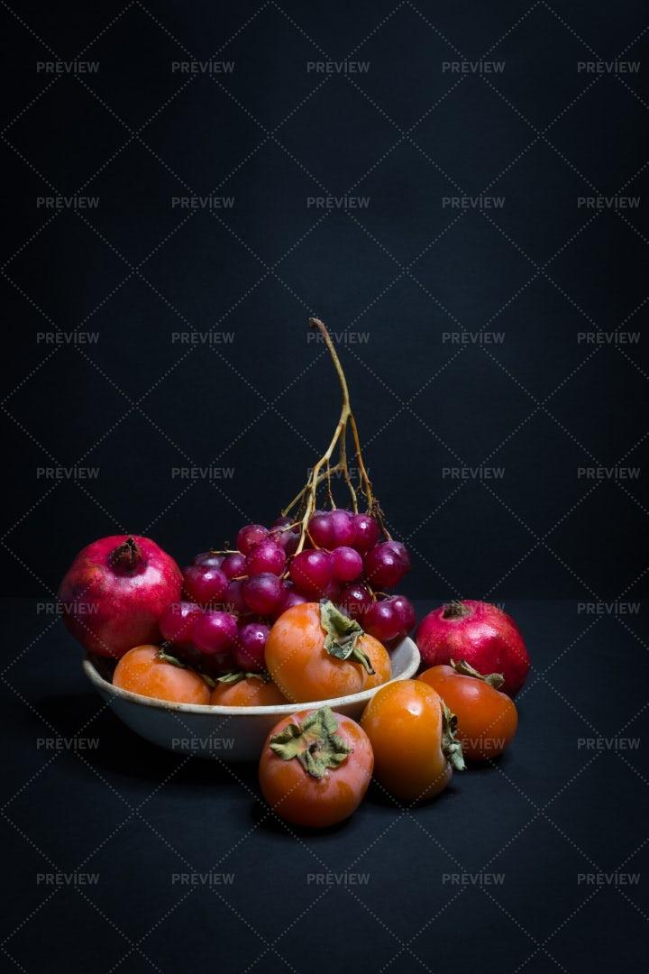 Autumn  Fresh Fruits: Stock Photos