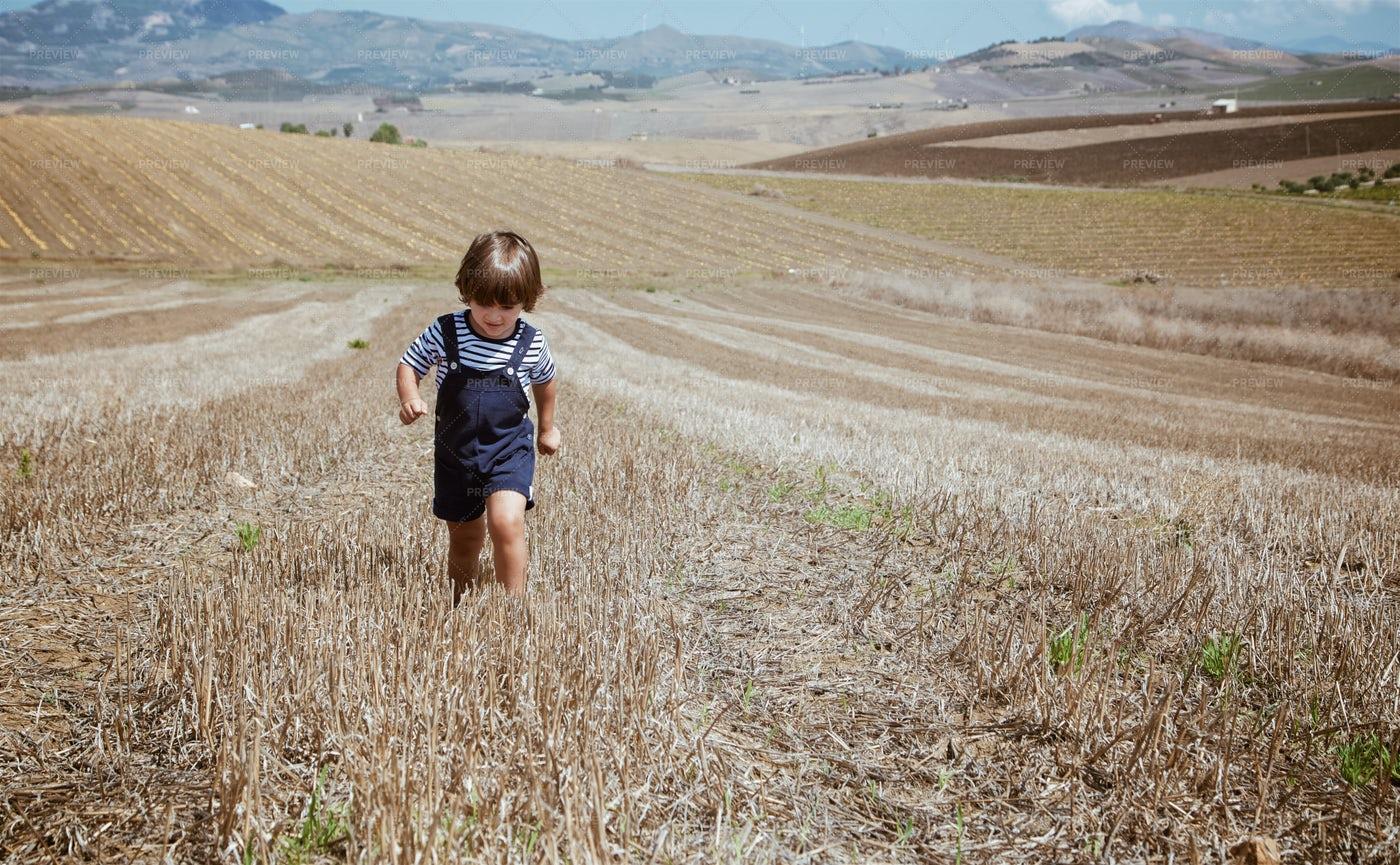 Boy In Rural Landscape: Stock Photos