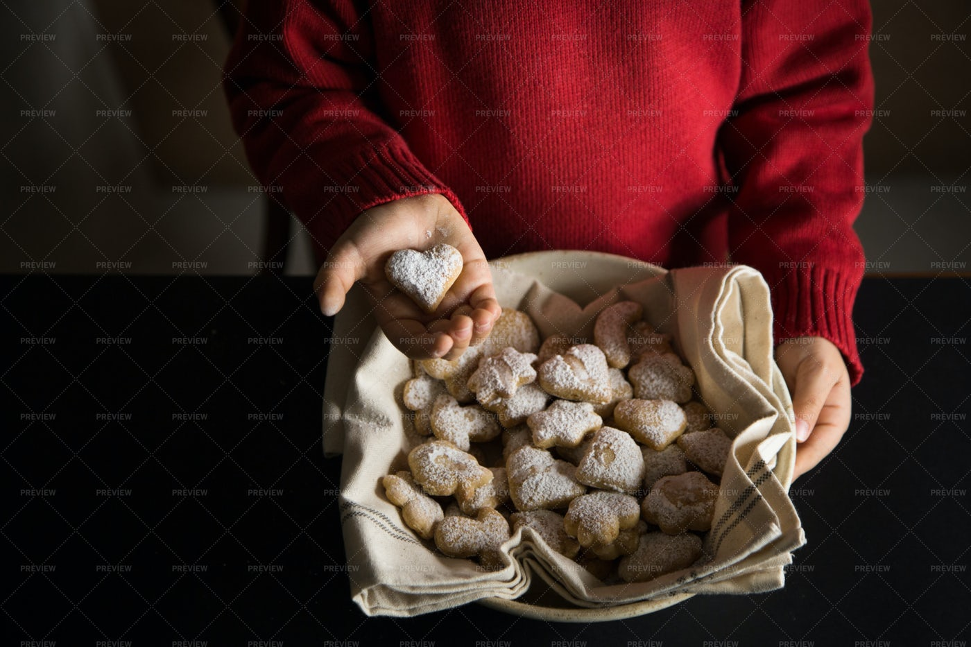 Hands With Cookies: Stock Photos