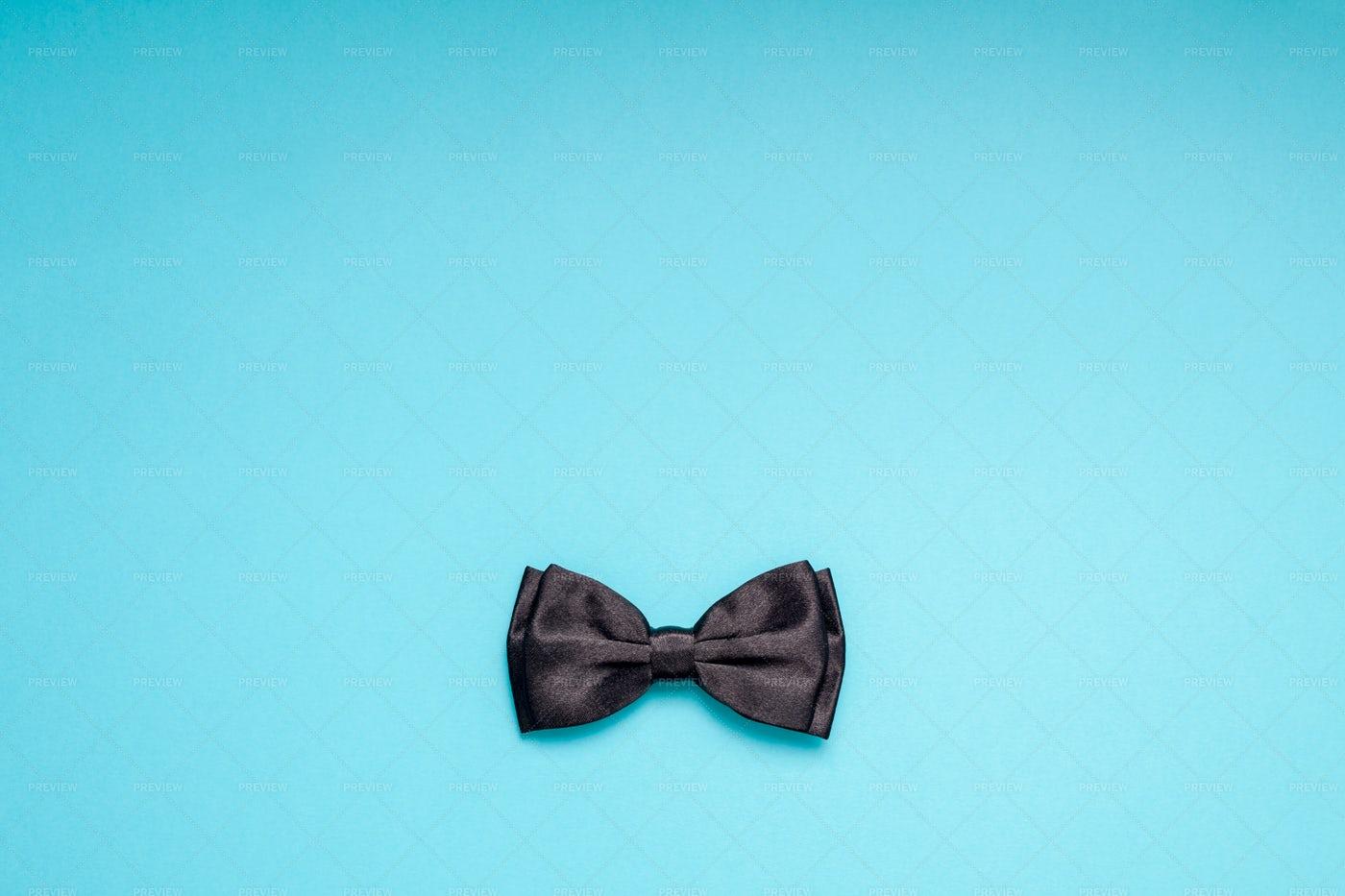 Black Gentleman Bow Tie: Stock Photos
