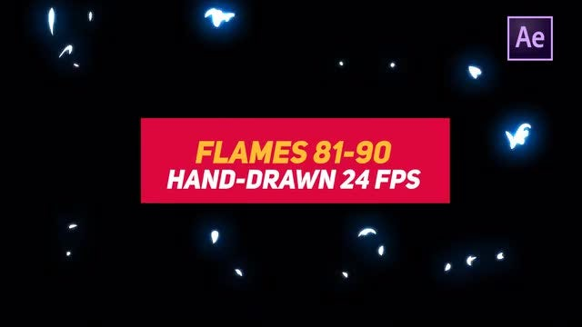 Liquid Elements 2 Flames 81-90: After Effects Templates