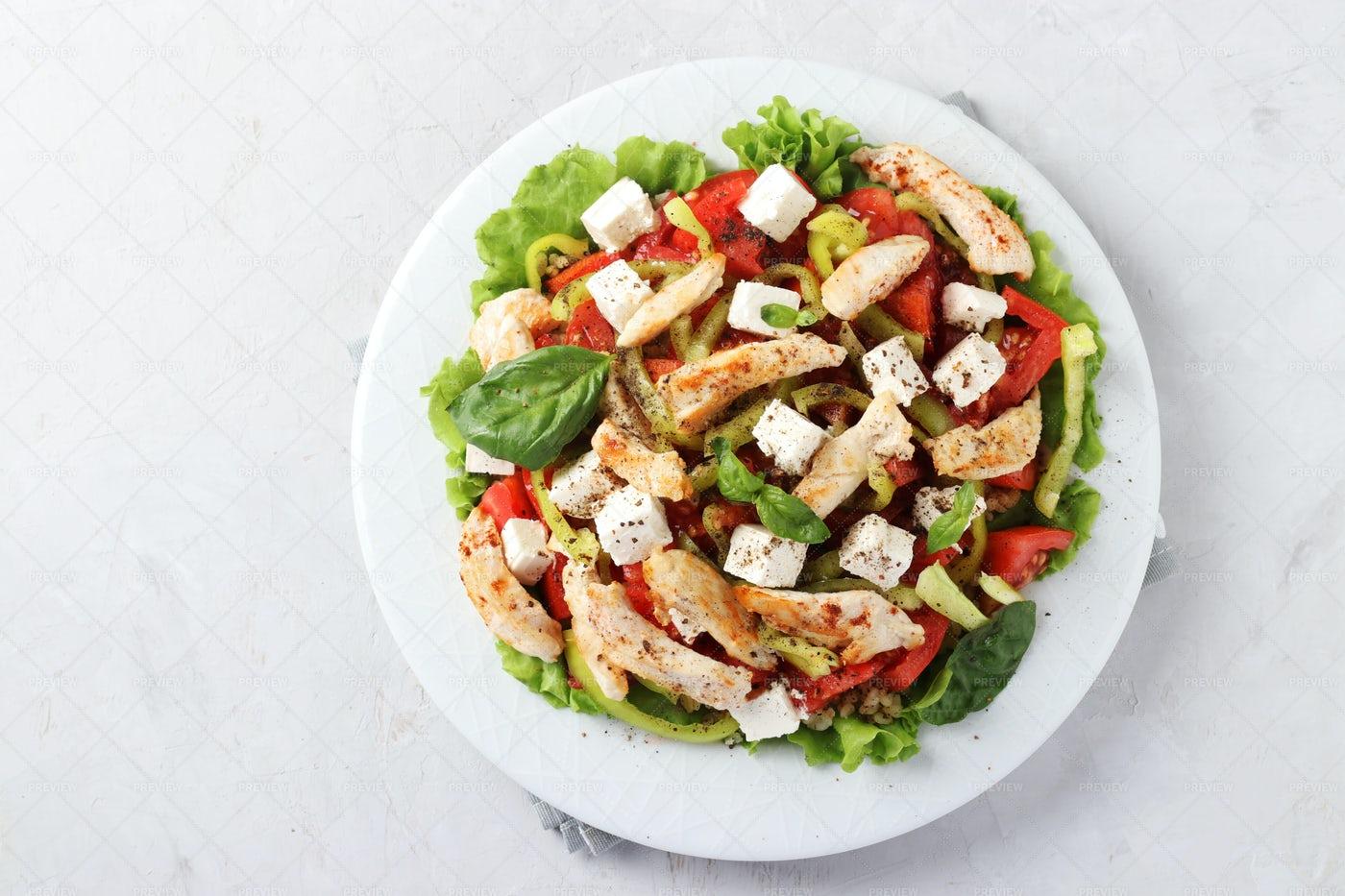 Baked Chicken Salad: Stock Photos