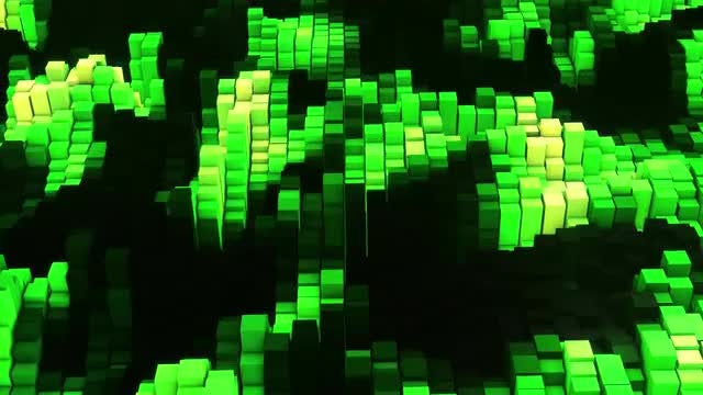 VJ Green Glow Equalizer: Stock Motion Graphics