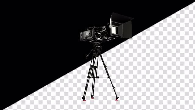 Professional Camera Rig On A Tripod: Stock Motion Graphics