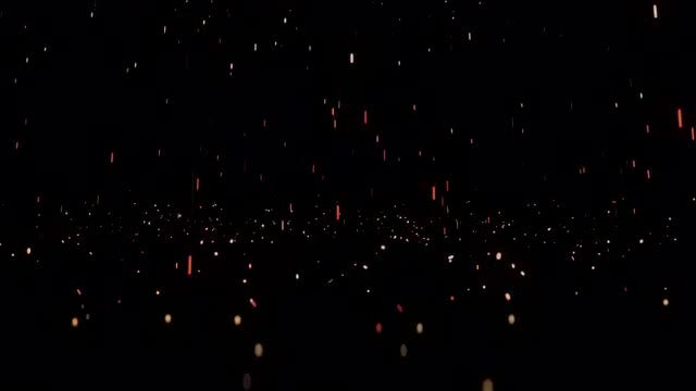 Rain Of Golden Sparks: Stock Motion Graphics