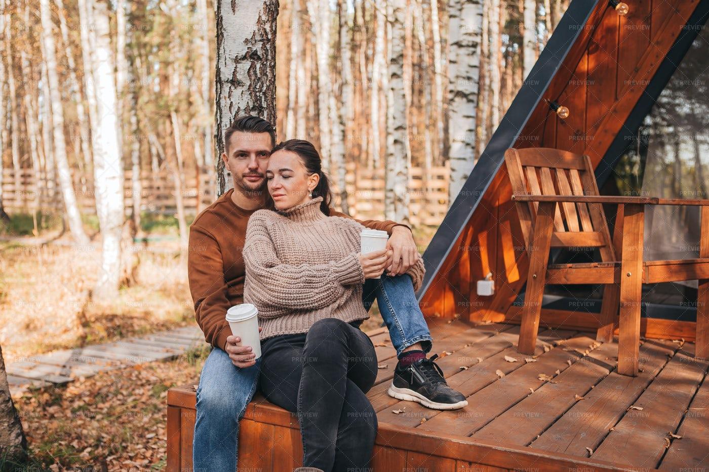 Couple On The Terrace: Stock Photos
