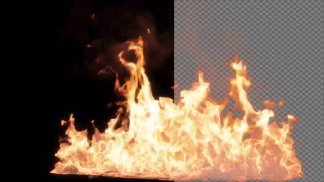 Realistic Fire In Alpha Channel: Stock Motion Graphics