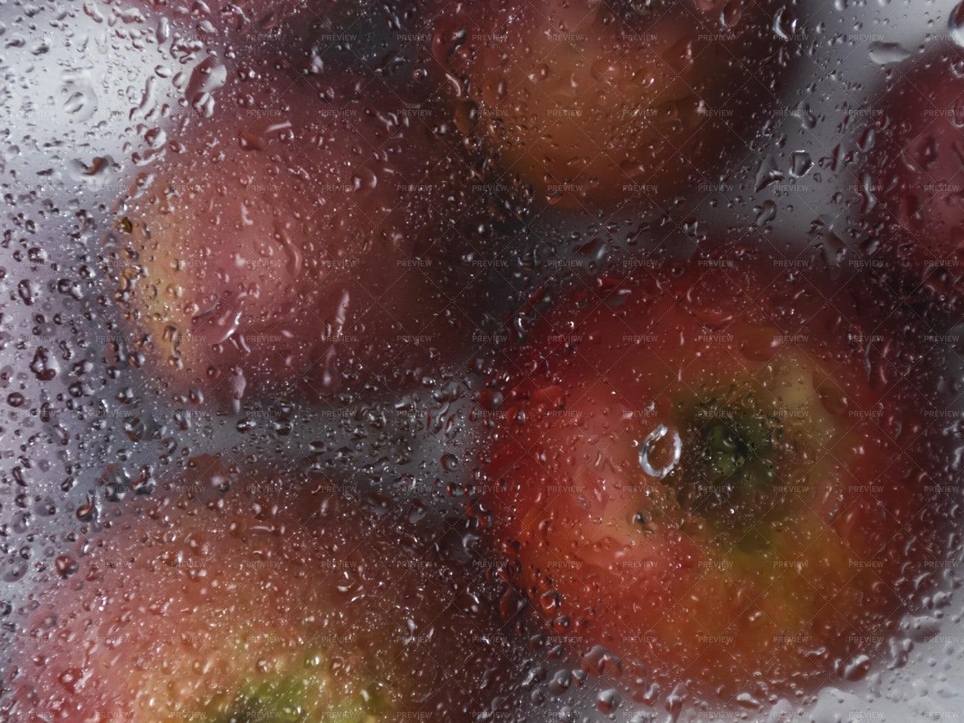 Apples Behind Glass: Stock Photos