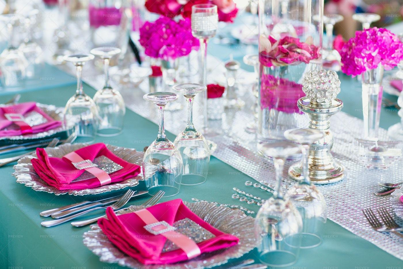 Wedding Table Decoration: Stock Photos