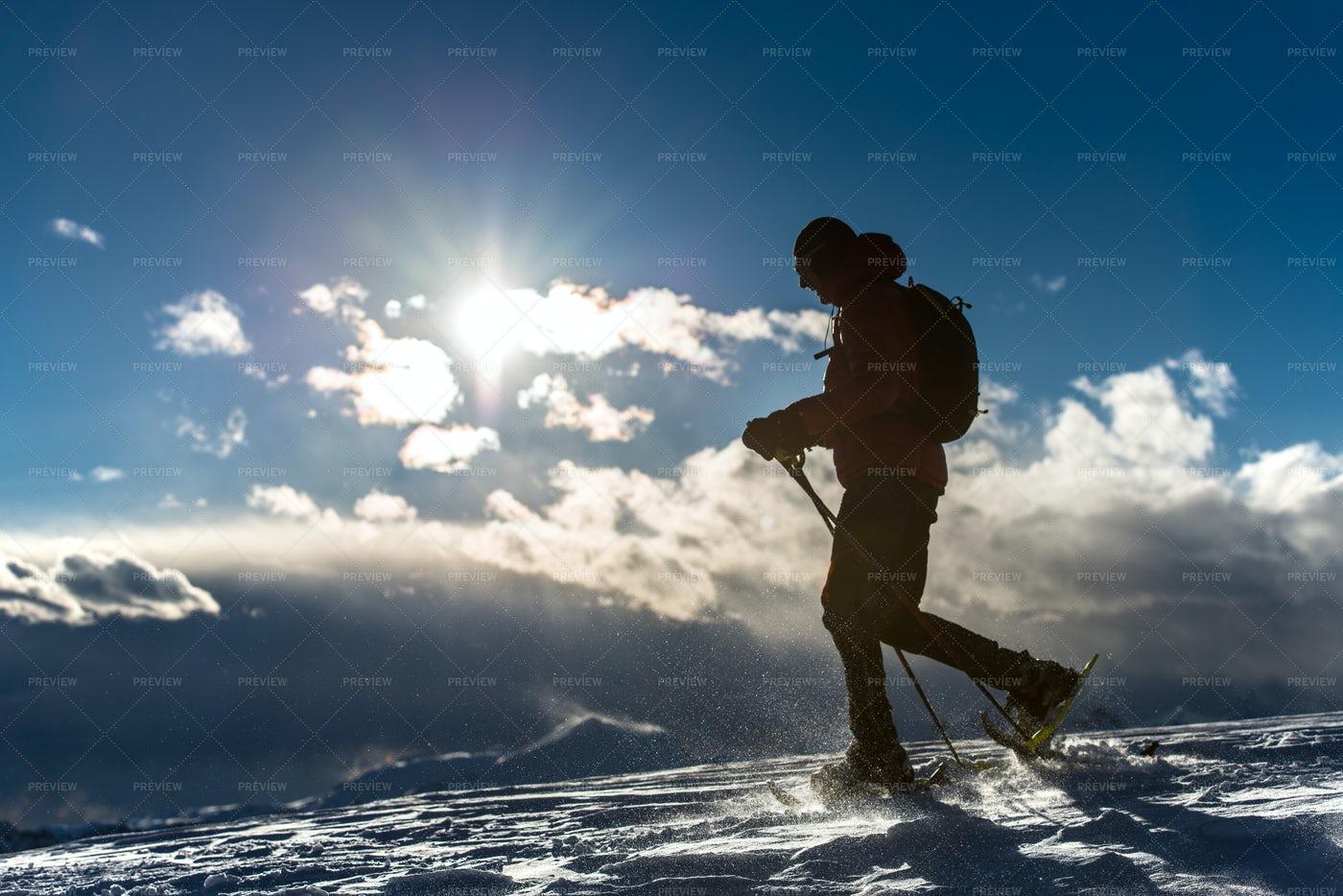 Man Walking In Snow: Stock Photos