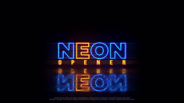 Neon Logo (+Vertical Ver.): After Effects Templates