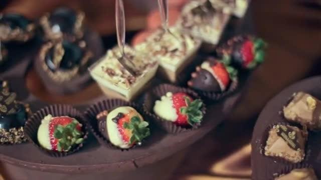 Wedding Celebration Desserts Spread: Stock Video