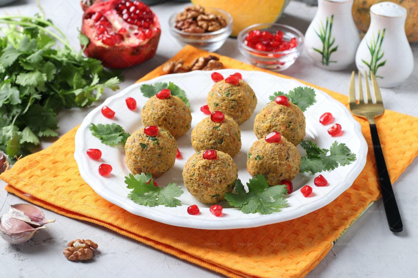 Appetizer Pkhali From Pumpkin: Stock Photos