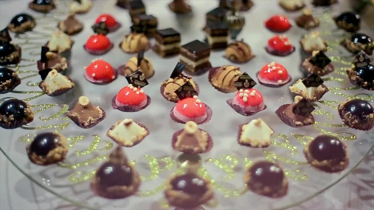 Wedding Reception Desserts : Stock Video