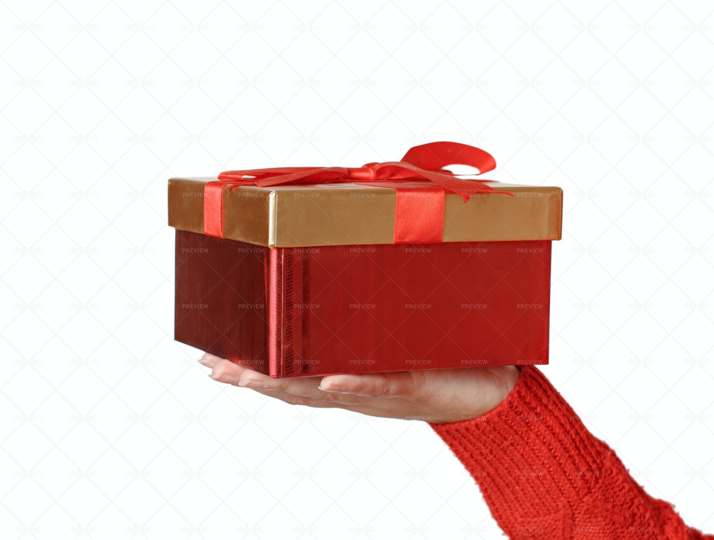 Hand With Gift Box: Stock Photos