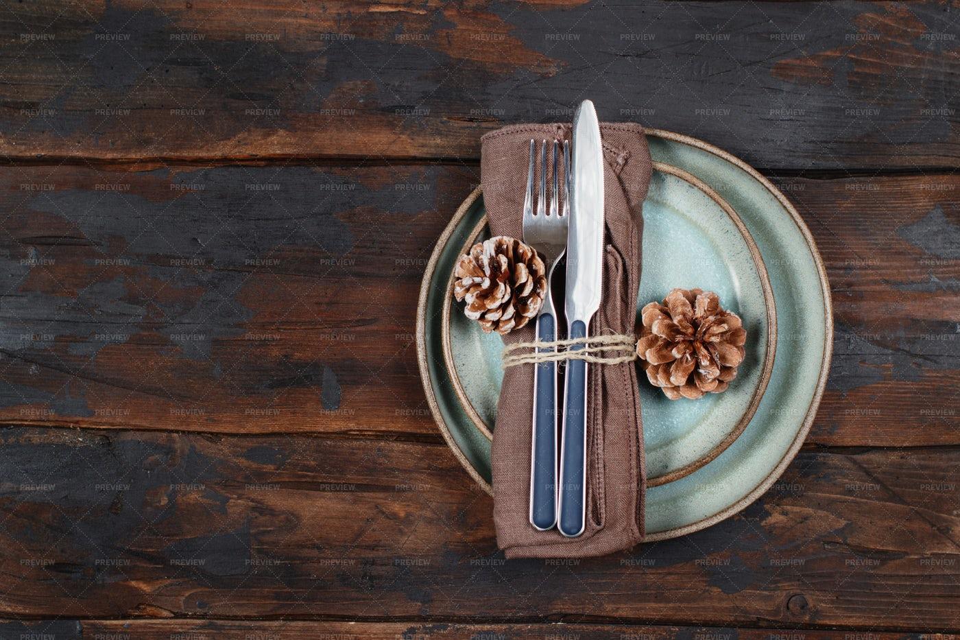 Festive Table Setting: Stock Photos