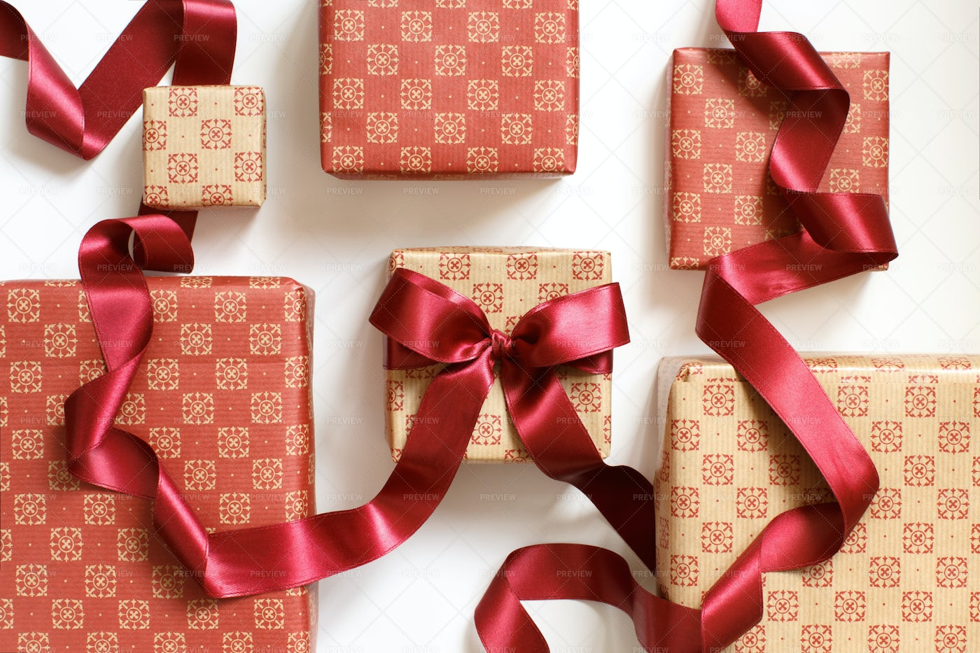 Gift Boxes With Bow: Stock Photos