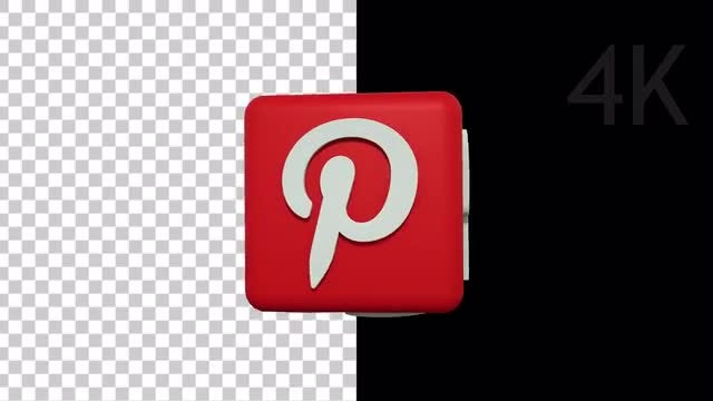 Social Media 3D Logo: Stock Motion Graphics