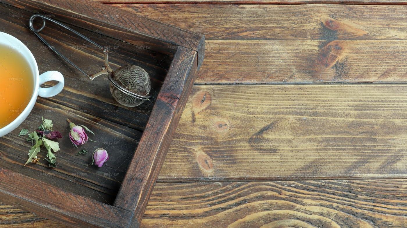 Tray With Herbal Tea: Stock Photos