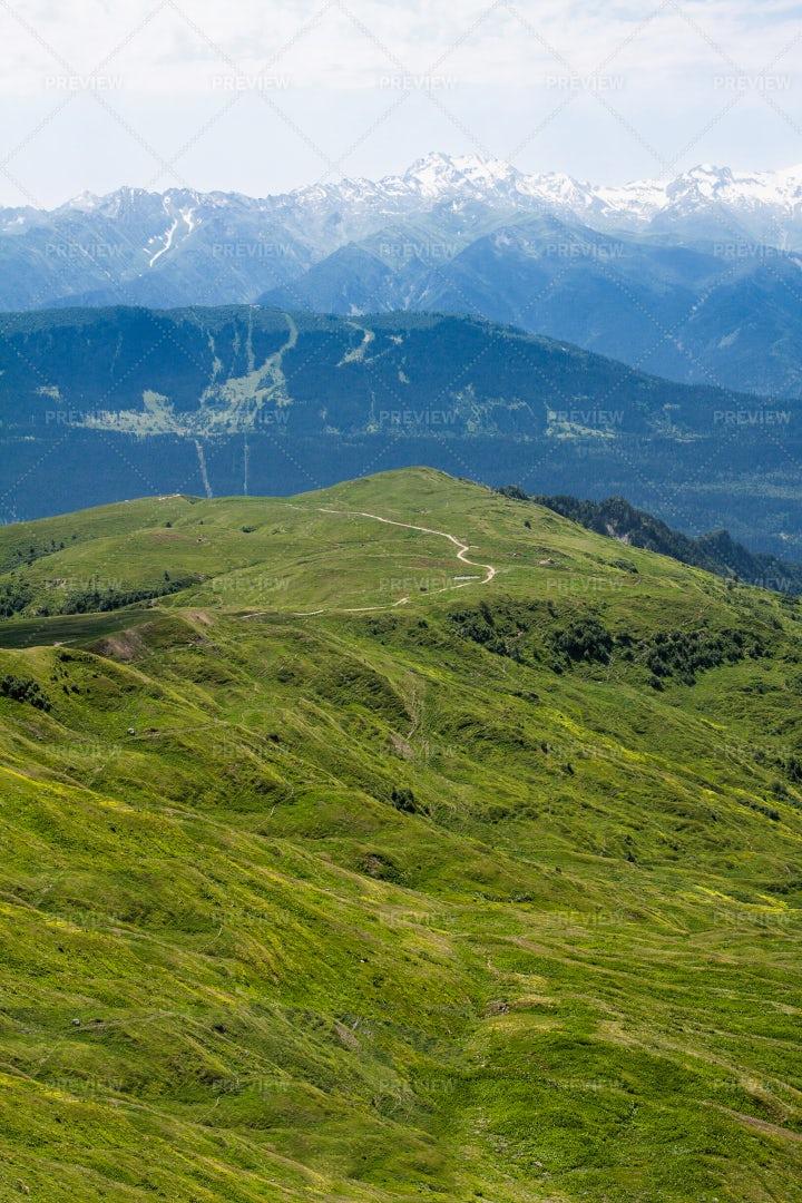 Road At Top Of Mountain: Stock Photos