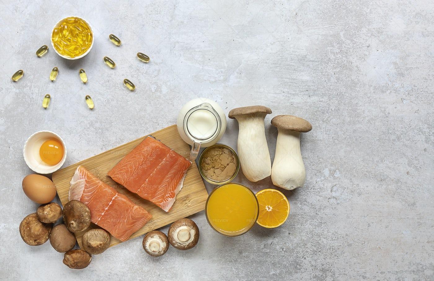 Food Contains Vitamin D: Stock Photos