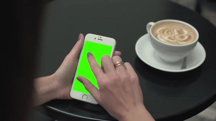 Green Screen Mobile Phone: Stock Video