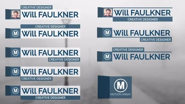 Lower Thirds for Wednesday: After Effects Templates