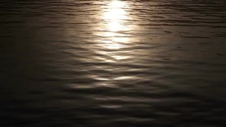 Evening Sun On Water Surface: Stock Video