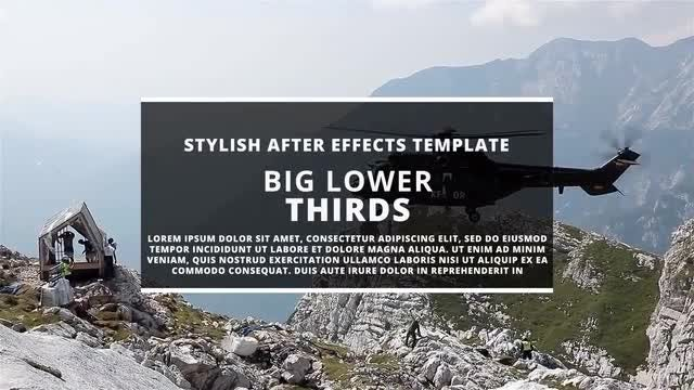BIG Lower Thirds II: Motion Graphics Templates