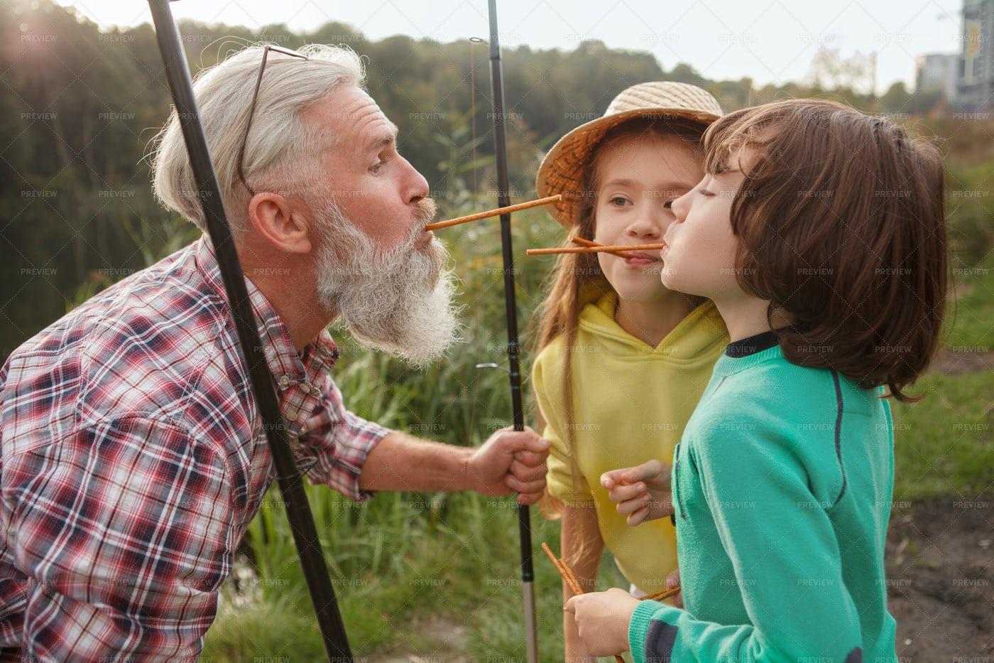Having Fun With Grandkids: Stock Photos