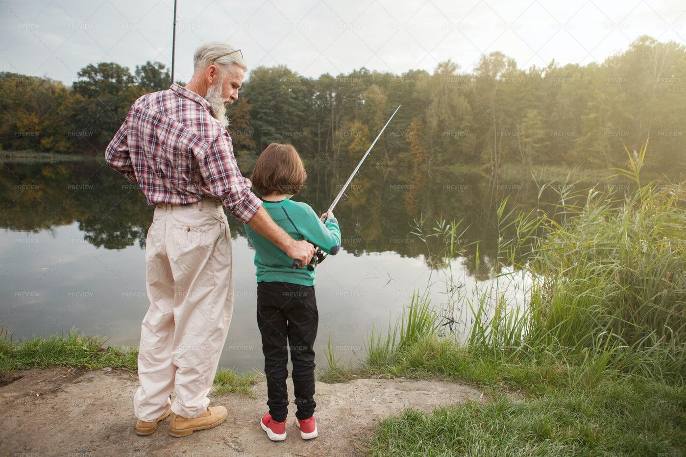 A Family Fishing Trip: Stock Photos