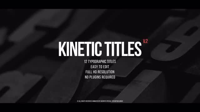Kinetic Titles v.2: Premiere Pro Templates