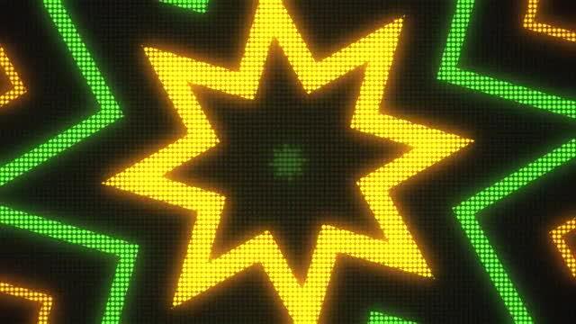 Star Disco LED VJ Background: Stock Motion Graphics