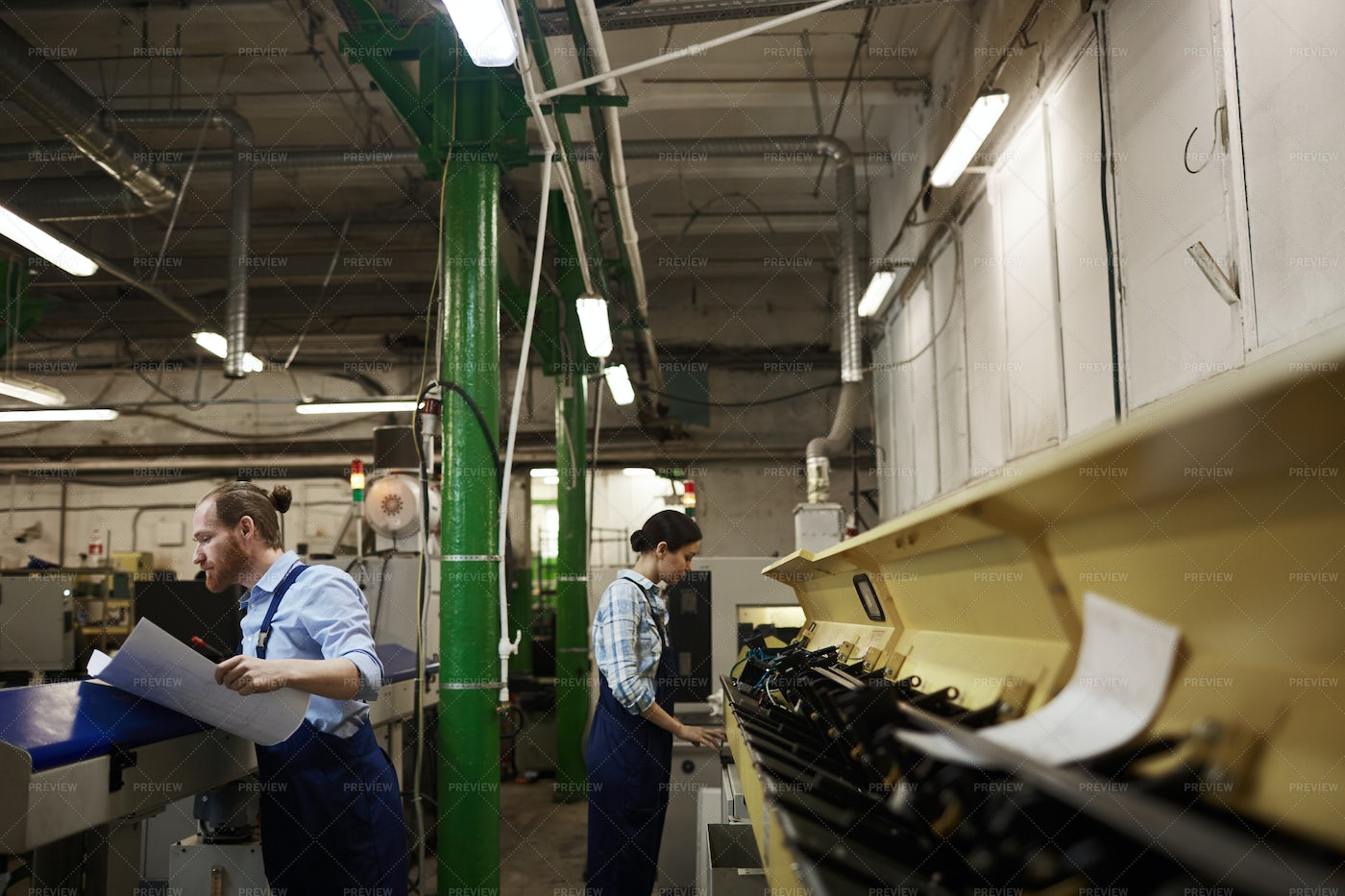 Working Process In Factory: Stock Photos