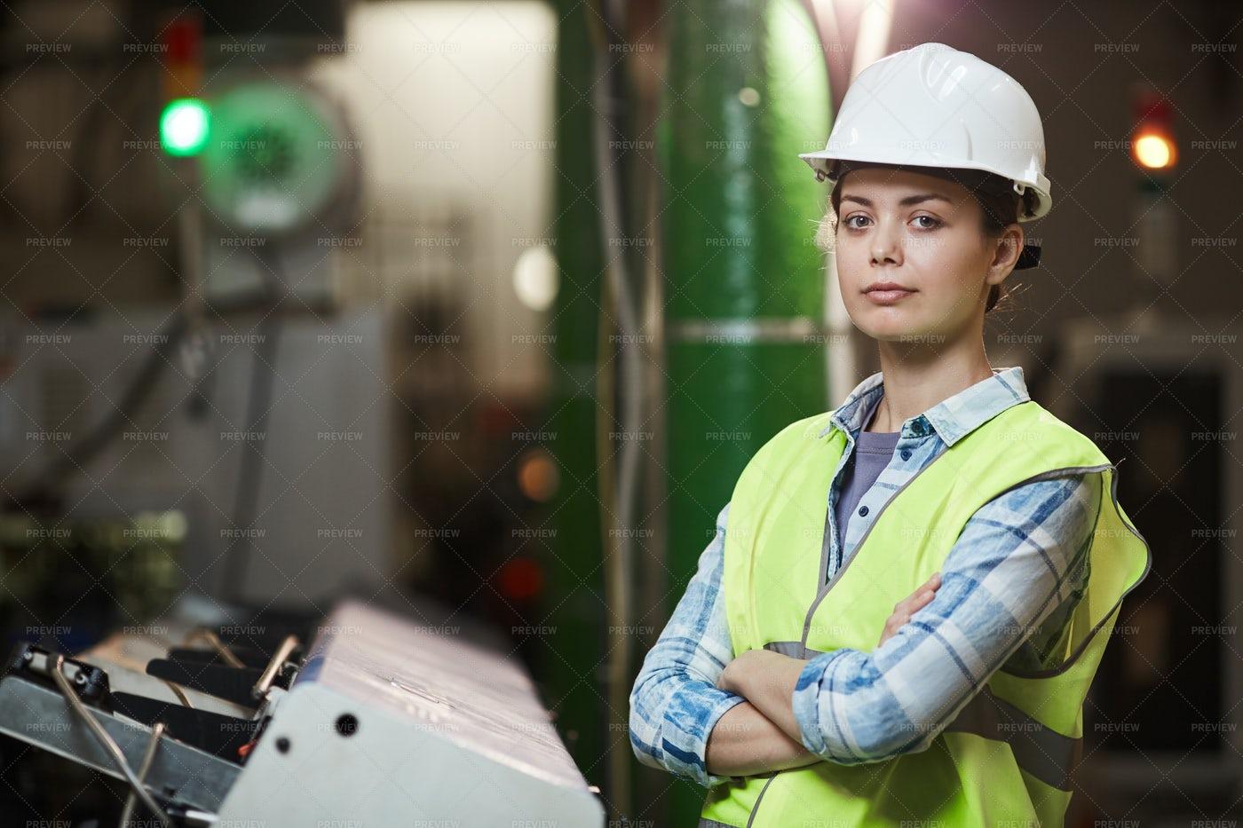 Female Foreman In Uniform: Stock Photos