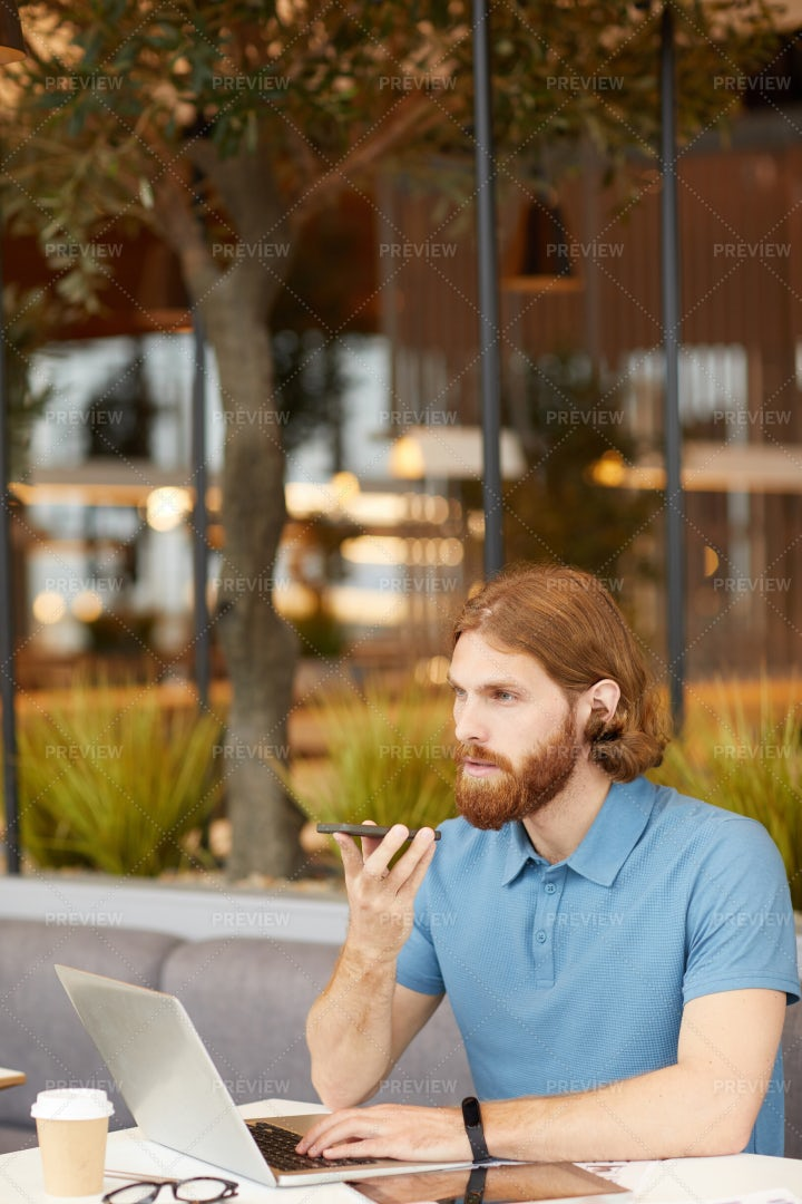 Businessman Working With Phone: Stock Photos