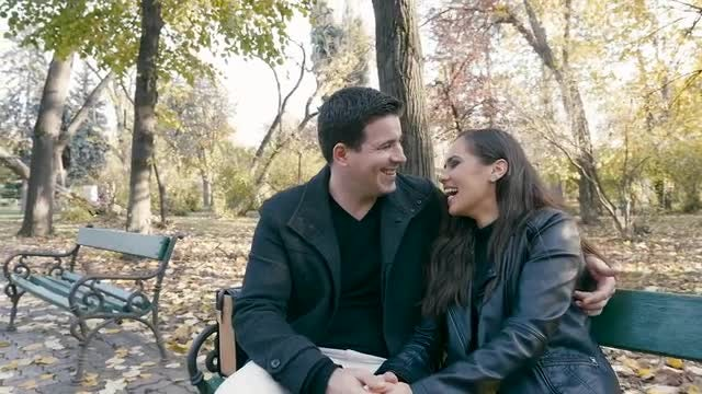 Happy Couple In The Park: Stock Video