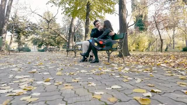 Autumn Romance : Stock Video