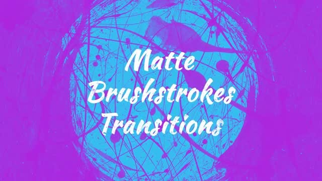 Matte Brushstrokes Transitions: Stock Motion Graphics