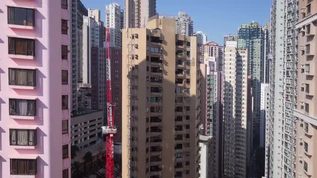 Hong Kong Residential Skyscrapers: Stock Video